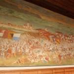 Das Schlachtengemälde in der Kapelle