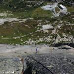Klettern in der Gerstenegg unterhalb der Staumauer