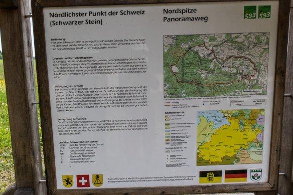 Tafel zum nördlichsten Punkt der Schweiz