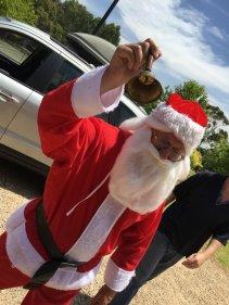 Santa Arrives. To hot for reindeer - 2015