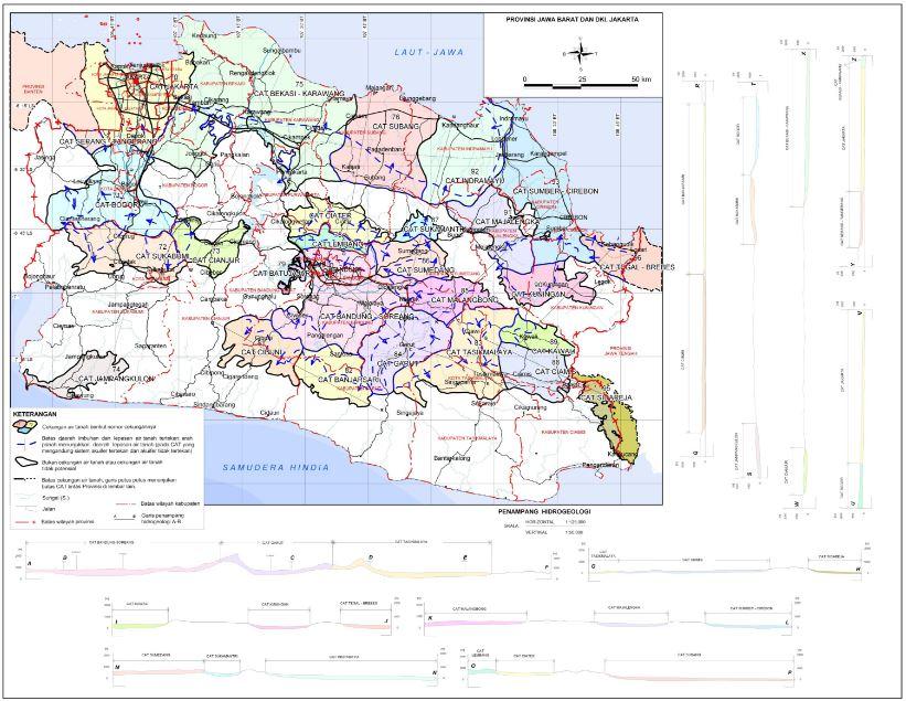 Peta CAT (Cekungan Air Tanah) provinsi Jawa Barat Indonesia