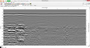 Data RAW Radargram Georadar GPR