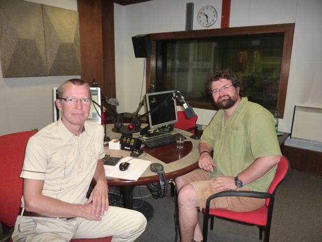 Tibor Lieskovský v Rádiu Regina s redaktorom Richardom Šümeghym