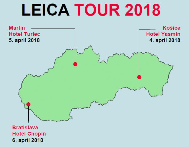 Spoločnosť GEOTECH Bratislava, s.r.o. organizuje od 4. do 6. apríla 2018 v troch slovenských mestách bezplatnú prezentáciu výrobného programu značky Leica Geosystems, zdroj: GEOTECH Bratislava