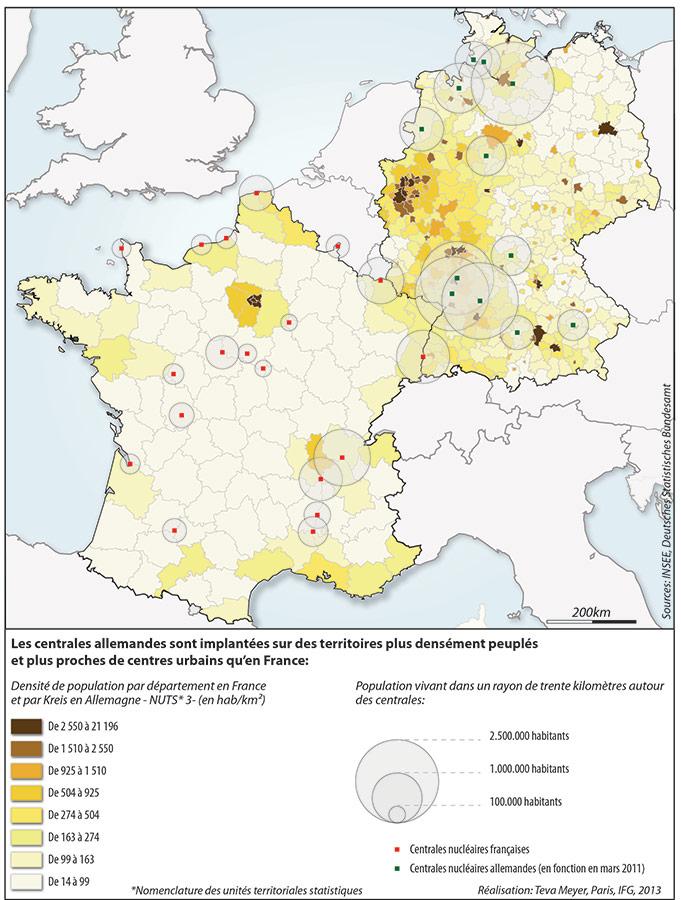 Teva Meyer — carte France Allemagne population à proximité d'une centrale nucléaire