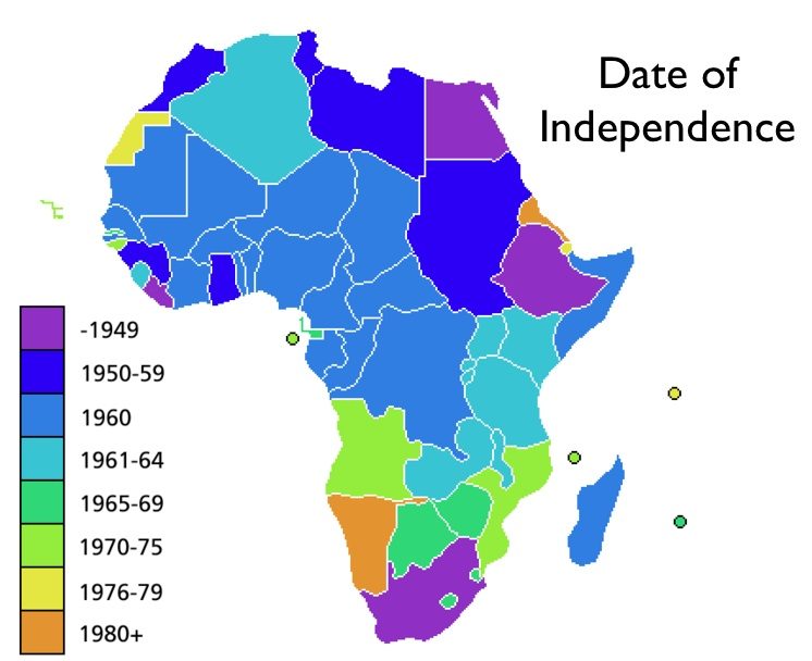 Map Of Africa 1950.Ch 14 Colonialism In Africa In 1850 1950 Subratachak