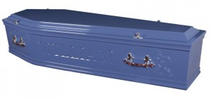 Mid Blue Coffin