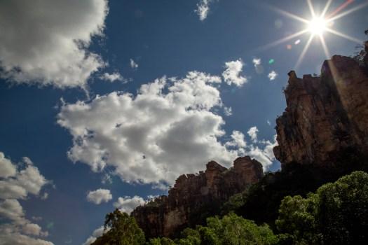 Image of sky and cliffs near Jim Jim Falls, Kakadu