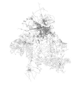 OSMnx: Belgrade Serbia networkx street network in Python from OpenStreetMap