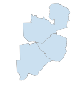 OSMnx: Botswana, Zambia, Zimbabwe national borders from OpenStreetMap