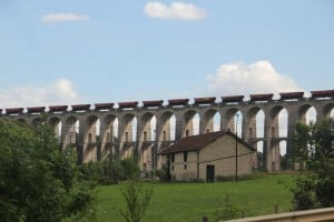 The impressive Chaumont viaduct
