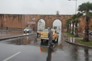 Lovely rain in sunny Morocco