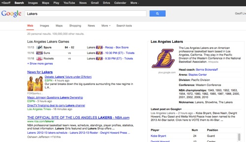 GoogleLakers