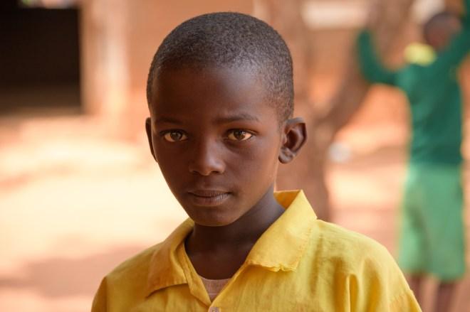 Portrait of young school boy.