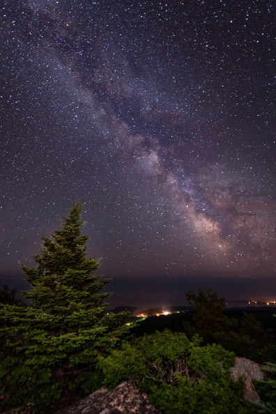 The Milky Way from atop Cadillac Mountain