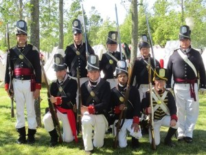 The American regiment at Mobile, 1812