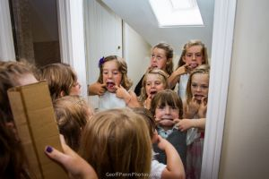 The children 'getting ready'