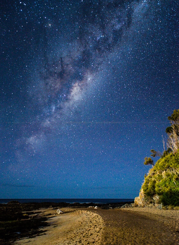 Milky Way spiral arm looking east from Malua Bay ... from the beach this time :-)