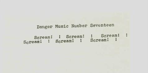 Dick Higgins - Danger Music #17 score