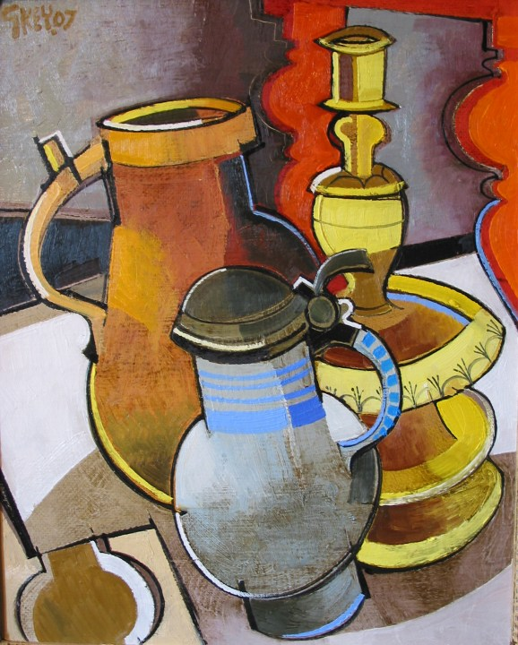two jugs and candlestick, oil 2007
