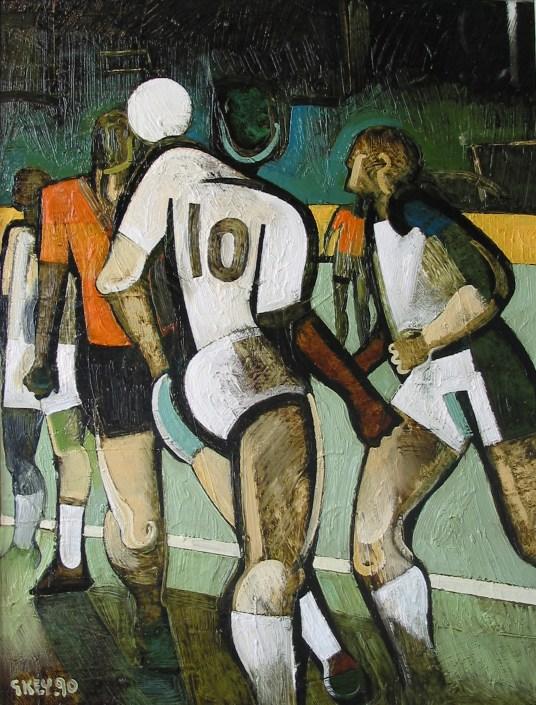 football, oil 1990
