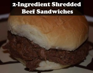 2-Ingredient Shredded Beef Sandwiches