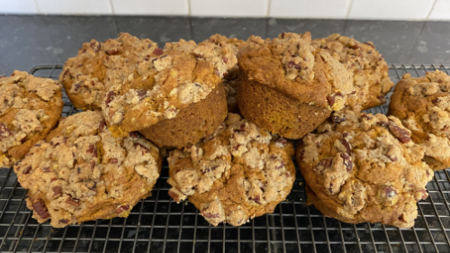 Pumpkin & Spiced Muffins with Streusel Top