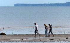 Filey beach and Flamborough Head