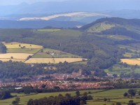 Looking down on Ludlow