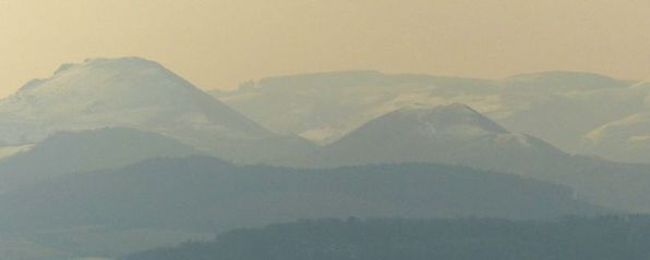 Pastel shades in distant hills