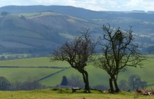 View to Clun valley