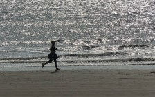 Jogger on the beach