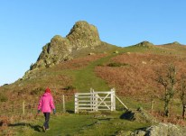 Up to the Gaer Stone
