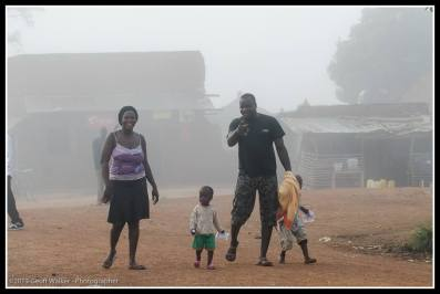 Another foggy morning in Rackoko and spotted by David Oceng with Sharon Lamunu.