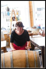 Ness Paton in the Village Wine Centre preparing for Toast Martinborough.
