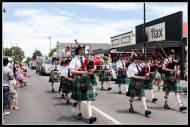 Greytown Xmas Parade - with the traditional pipe band.