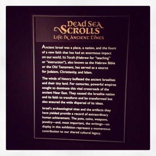 2013 06-15 MoS Dead Sea Scrolls