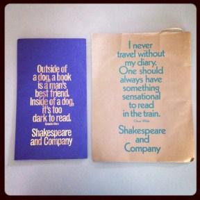 2014 08-31 Shakespeare & Co Gift Bag