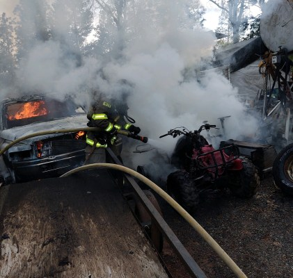 The Georgetown Fire Department has vehicle and debris fire in the midst of increasing call activity