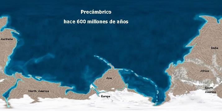 El Precámbrico - Eón Proterozoico (2.500 — 542,0 ± 1,0 ma) (6/6)