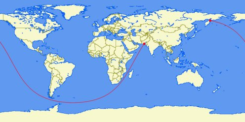 Le plus long trajet maritime