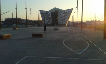 View of the outside of the Titanic Museum