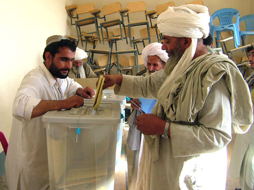 Casting a vote in Afghanistan