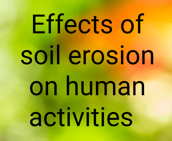 Effects of soil erosion on human activities