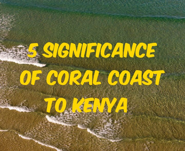5 significance of coral coast to kenya