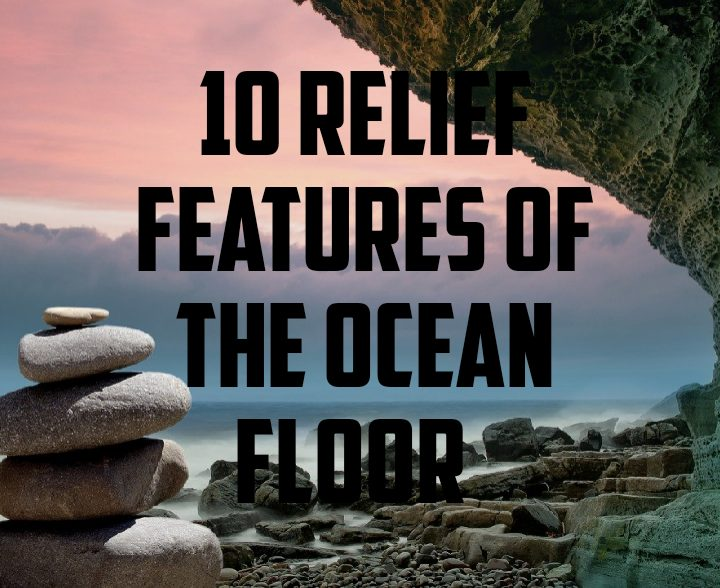 10 relief features of ocean floor