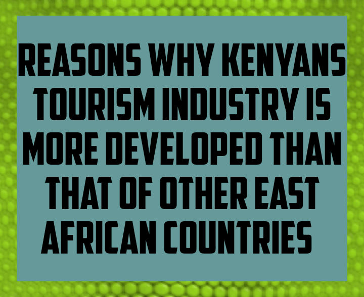 Reasons why Kenyan tourism industry is more developed than that of other East African countries