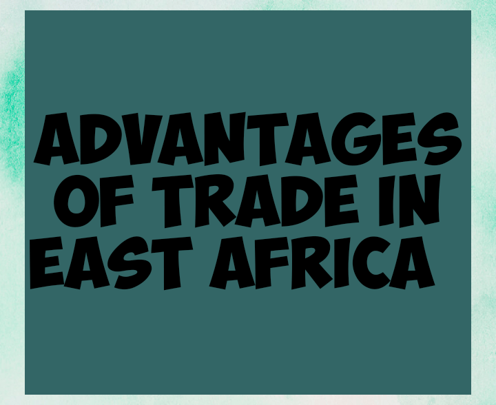 Advantages of trade in East africa