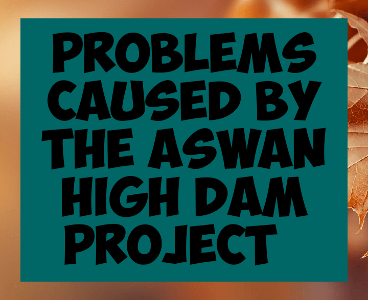 Problems caused by the Aswan high dam project