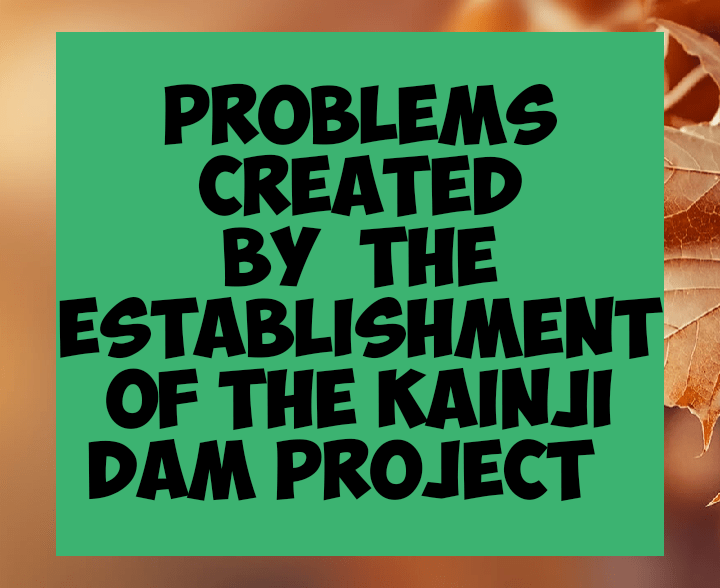 Problems created by establishment of the kainji dam project
